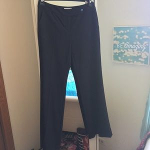 Women's Calvin Klein classic trouser pant black 4